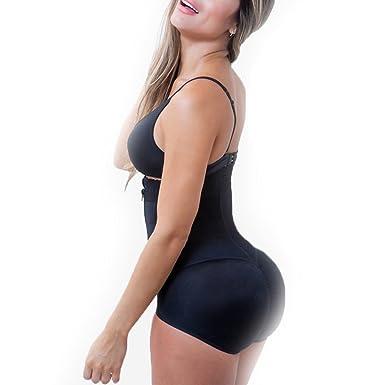 bbb9b54bb6 Amazon.com  AOBRITON Waist Trainer Bodysuit Latex Slimming Underwear  Corsets Body Shaper Shapewear Underwear Bodysuit Control Pants  Clothing
