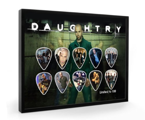 Daughtry Limited to 100 Framed Guitar Plectrum Display