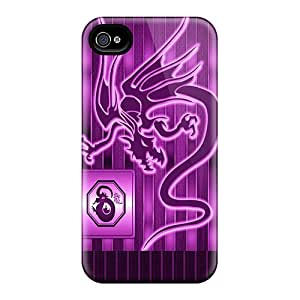 Awesome Design Purple Dragon Hard Case Cover For Iphone 4/4s