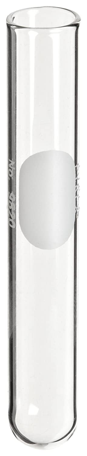 Corning Pyrex 9820-16 Borosilicate Glass Round Bottom 11mL Reusable Rimless Culture Tube, 16mm OD x 100mm Length, Clear (Case of 576) T3020-5