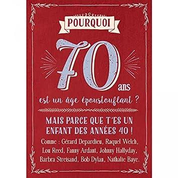 Carte Anniversaire 70 Ans Cadeau Maestro Amazonfr