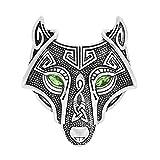 Woogge Viking Norse Wolf Head Bird Skull Brooch Pin Gothic Pendant Irish Viking Penannular Clothes Fasteners Scarf Lapel Pin