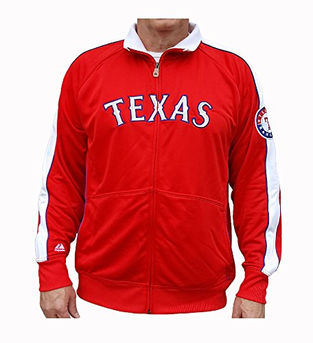 Texas Rangers Profector Full-Zip Track Jacket by Majestic -