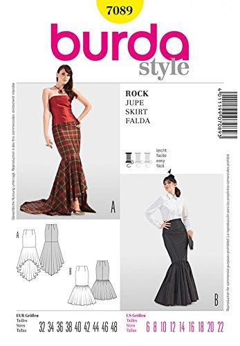 Amazon.com: Burda Ladies Easy Sewing Pattern 7089 - Fishtail Skirts ...