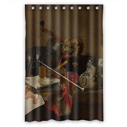 Cosbudy Polyester Classic Still Life Art Painting Bath Curtains Width X Height / 48 X 72 Inches / W H 120 By 180 Cm Gift Or Decor For Him Artwork Gf Girls Kids Girl. Easy Care - (Rustic Houses Wall Art)