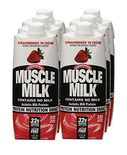 CytoSport Muscle Milk RTD - Strawberries N Creme - 17oz - 6 bottles