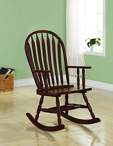 Coaster Home Furnishings Traditional Rocking Chair, Cappuccino (Rocking Spindle Chair)