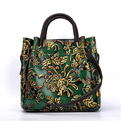 Manos Bolso Manual De Oblicuo Tridimensional Retro Mano Relieve Green Verde En Lavado 1rtS14w
