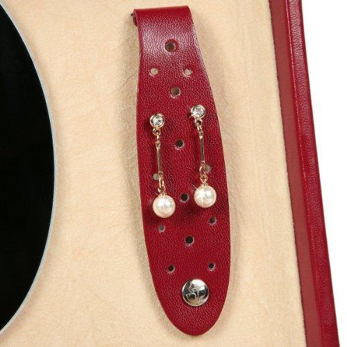 Windrose Merino Schmuckkoffer mit 6 Seitenschubladen 0 rot - 7