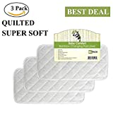 Superior Quality Bamboo Changing Pad Liners, Highest Quality Fabric, Waterproof, Hypoallergenic, Antibacterial, Reusable, Machine Washable & Dryer Friendly, 3 Pack