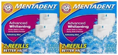 Mentadent Whitening Fluoride Toothpaste Refill