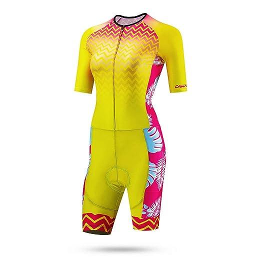 Guolipin Trajes de Ciclismo para Mujeres Traje de triatlón ...