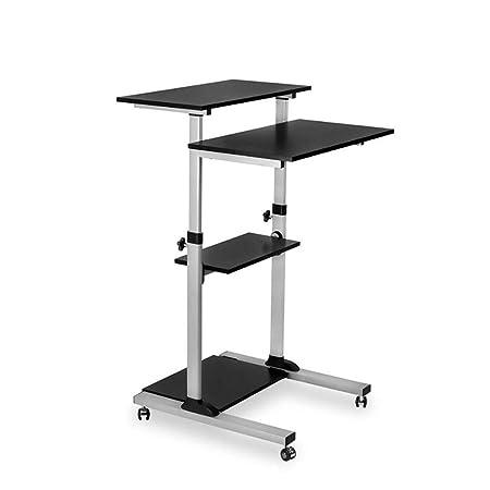 QYJH- Portátil Multifuncional Mesa de pie Mesa - Altura Ajustable ...