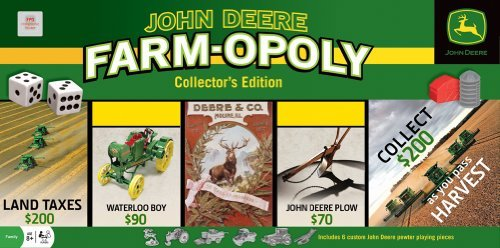 (MasterPieces / John Deere Collector's Edition Farm-Opoly by MasterPieces )