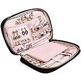 "MoMA Travel Jewelry Organizer - 9.8""L x 6.1""W x 1.9""H Jewelry Case - Jewelry Storage Box for Necklace, Earrings, Rings, Bracelets - Women Quilted Jewelry Box Organizer - Girl Portable Jewelry Case"