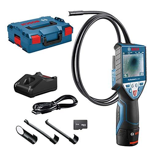 Bosch Professional Sistema 12V Cámara de inspección GIC 120 C (1 batería 12V + cargador, longitud del cable: 120 cm, display: 3.5'', en L-BOXX)