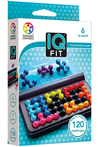 SmartGames IQ Fit - a fun 3D travel game for ages 7-adult featuring 120 challenges