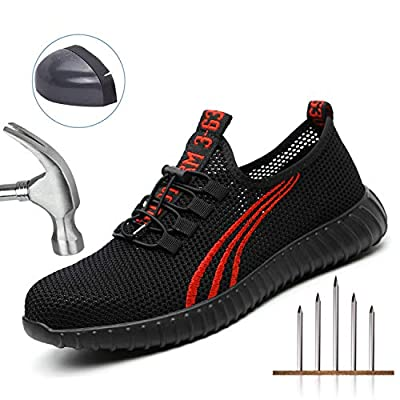 SITAILE Safety Steel Toe Shoes for Men and Women Breathable Lightweight Puncture Proof Work Construction Sneakers