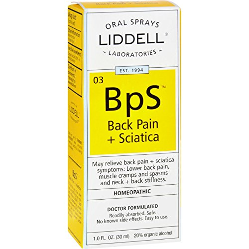 Liddell Homeopathic Back Pain Sciatica - Oral Spray - Homeopathic - 1 fl oz (Pack of 2) - Oral Pain Spray