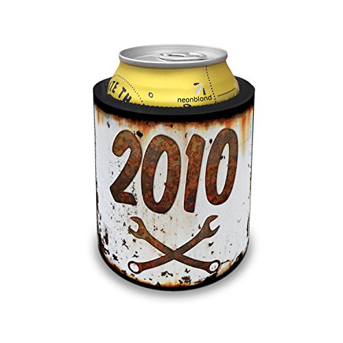 Slap Can Coolers Rusty old look car 2010 Insulator Sleeve Covers ()