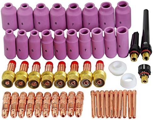 WIG Gas objectief verbruiksmateriaal geschikt voor WP DB SR 17 18 26 WIG lasbrander 51 stuks