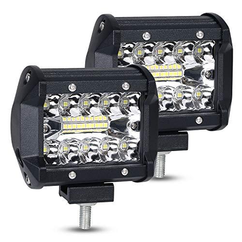 URAQT LED Offroad Werklamp, 2 x 120W Schijnwerper Werklicht, Superhelder LED Auto Werklicht Universeel voor SUV, UTV…