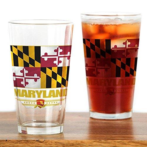 CafePress Maryland Pride Pint Glass, 16 oz. Drinking -