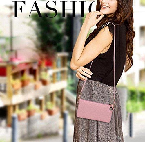 Frauen Lady Retro Vintage Flower kleine Brieftasche Hasp Handtasche Clutch-Tasche Tefamore