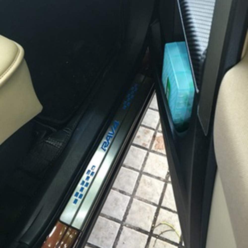 Accessoire de d/écoration de Style plaques de Protection 4 pi/èces Barres De Seuil De Porte en Acier Inoxydable pour Toyota RAV4 2013 2014 2015-2020 Garde-Plaque de seuil de Porte