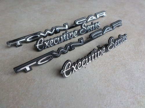 Trunk Car Lid Lincoln Town (97-02 Lincoln Town Car Executive Series Door Fender F7VB-16B114-AB Lid Trunk Emblem Logo Nameplate Ornament Set of 4)