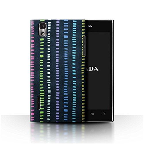 STUFF4 Phone Case / Cover for LG Prada 3.0/K2/P940 / Navy Blue/MultiColour Design / Home Textiles - Navy Pradas Blue