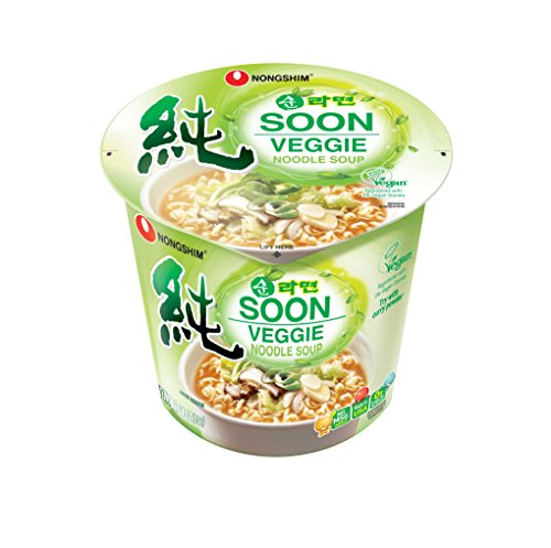Price comparison product image NongShim Soon Noodle Soup, Veggie, 2.6 Ounce (Pack of 6)