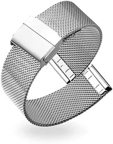 RTYW 12月14日/ 18分の16/20/22ミリメートルストラップウォッチメタルメッシュステンレススチール腕時計バンドレディースメンズブレスレットウォッチバンドファッションウォッチストラップ (Band Color : Silver, Band Width : 20mm)