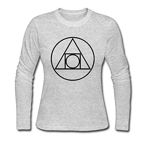 Squared Circle Alchemical Glyph seventeenth Century Autumn Custom Women's Stylish Long Sleeve T-Shirt - 17th Century Shirts