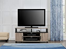 Altra Dexter TV and Gaming Stand for TVs, 50-Inch, Sonoma Oak and Black