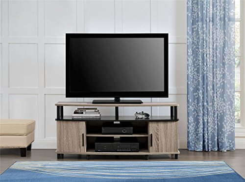 ameriwood home carson tv stand for 50 inch tvs sonoma oak import it all. Black Bedroom Furniture Sets. Home Design Ideas