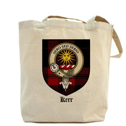 Cafepress–Kerr Clan Crest tartan–Borsa di tela naturale, tessuto in iuta