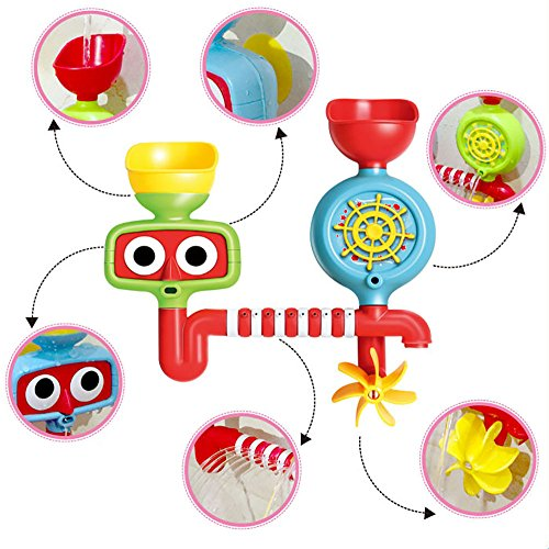 Jetsan 9905 Fill-Flow-Spin Bath Toys set