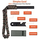 Magnesium-Fire-Starter-with-108-inches-Paracord-Lanyard-Woven-by-Dimples-Excel