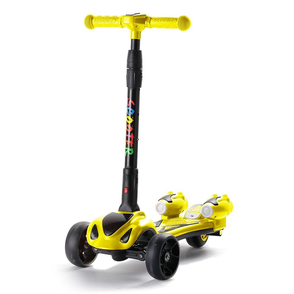 【10%OFF】 学生スクーター折り畳み式ライドブロック自転車リフトスイングカーフラッシュホイール5-15歳 B07FY97ZNS B07FY97ZNS Yellow Yellow Yellow Yellow, 佐野市:cdf875cc --- a0267596.xsph.ru