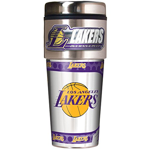 Great American Products Nba Los Angeles Lakers Metallic Travel Tumbler  16 Ounce