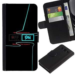 LECELL--Cuero de la tarjeta la carpeta del tirón Smartphone Slots Protección Holder For Samsung Galaxy S3 III I9300 -- Encendido Apagado --