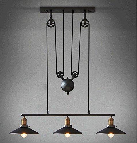 adjustable lighting fixtures. Coquimbo Rustic Home Decor Retro Pendant Retractable Chandelier Light Adjustable Lamp 3 Head Hanging Loft Style Vintage Ceiling Lamps Fixtures Lighting T
