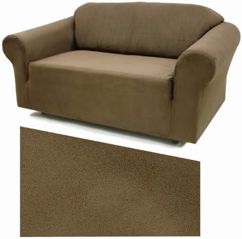Stretch Suede Chestnut Furniture Slipcover Loveseat 731