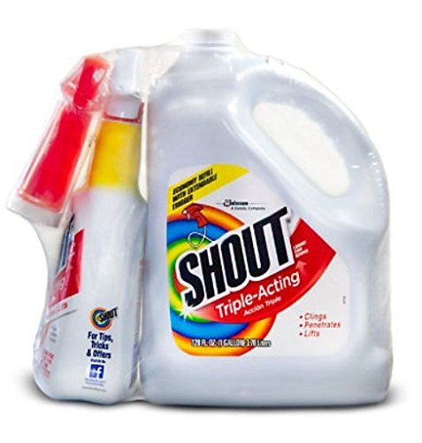 Liquid Triple Pack - Shout Triple-Acting Liquid 1 Gallon Refill + 32 oz. Shout Trigger zaz (32 oz. Shout Trigger + 1 Gallon Refill +)