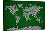 Michael Tompsett Premium Thick-Wrap Canvas Wall Art Print entitled Map of the world made up from soccer balls