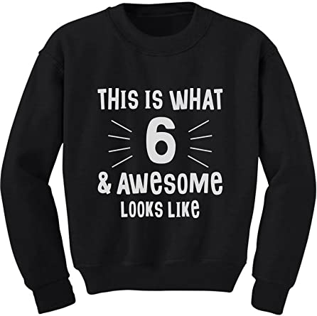 6 Years Of Being Awesome Birthday Gift For 6 Year Old Youth Kids Sweatshirt