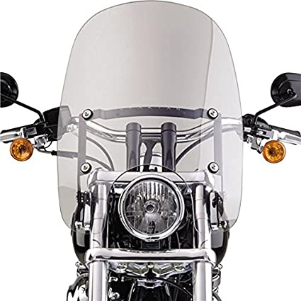 National Cycle Spartan Windshield Clear - Harley Davidson (See  Specifications) - 18 5 x 18 Inch - N21201