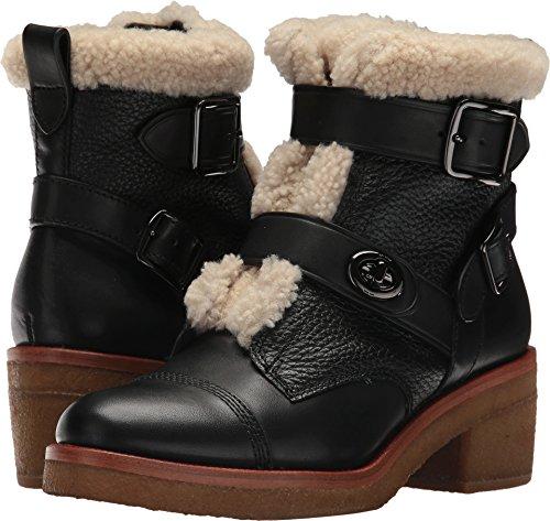 - COACH Women's Preston Black/Natural Soft Vegan Leather/Shearling 7 M US