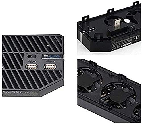 Semoic Cooling Fan for One with 2 Ports USB Hub Professional Manual-Sensing External Dual USB Cooler for One Console-Black